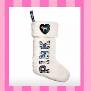 🎄 Victoria's Secret Pink Sherpa Stocking